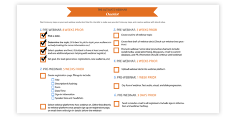 Checklists For Ecommerce Website